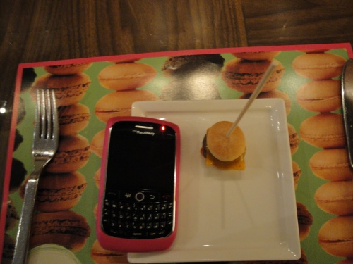 Bambina next to BlackBerry