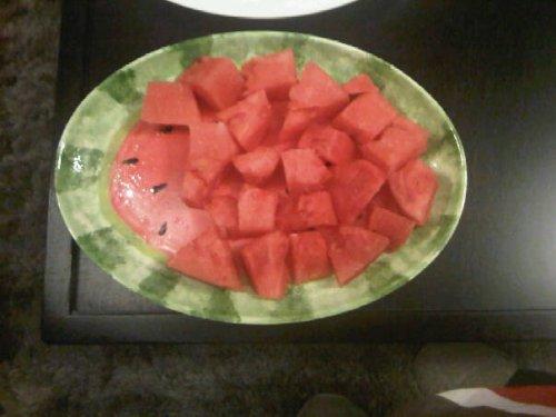 Watermelon Plate & Fruit