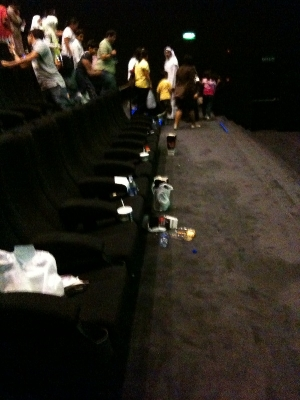 littering movie theaters