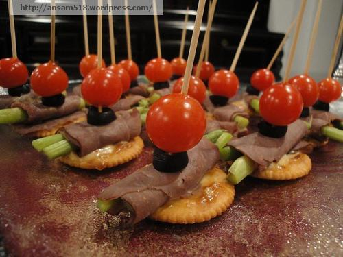 Just a teaser five one eight for Roast beef canape
