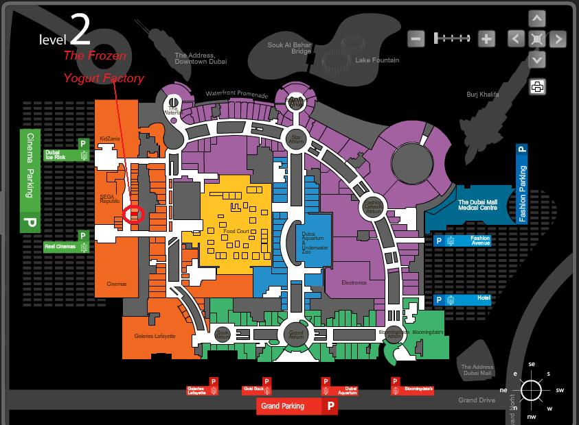 Images And Places Pictures And Info Dubai Mall Map