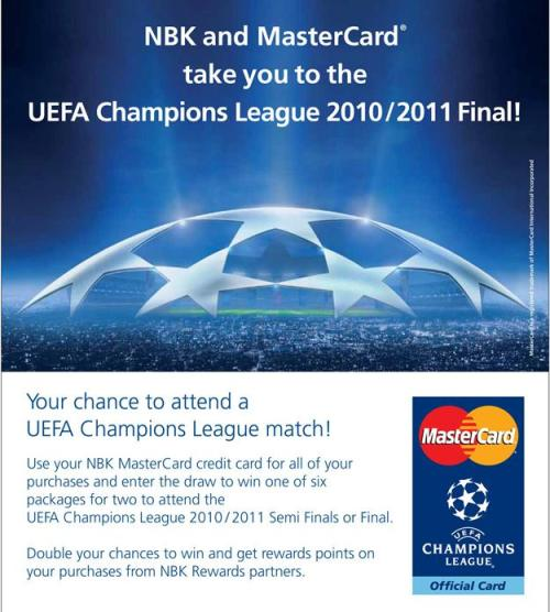 Attend uefa champions league with nbk five one eight